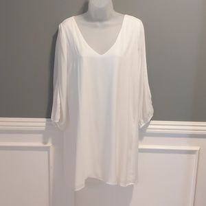 Lulu's Shifting Dears Ivory Long Sleeve Dress